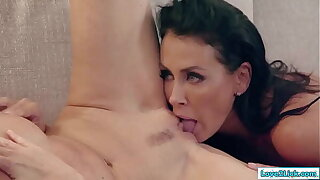 2 mature milfs going down on each in rotation