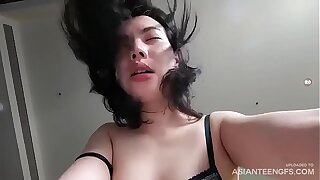 Young Vietnamese prostitute fucks for money in a hotel room