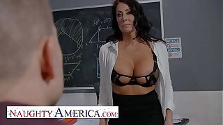 Naughty America - Reagan Foxx teaches her student a special duty in classroom