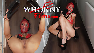 WHORNYFILMS.COM, Submissive masked battle-axe face fucked, hard anal