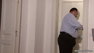 Cheating girlfriend caught riding older man's dick