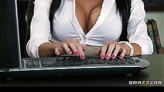 Hot & Mean lesbians punish original office secretary with a strap-on