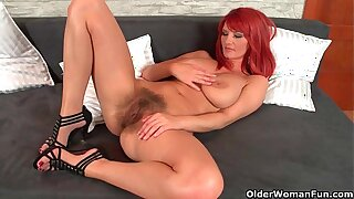 Sizzling hot redhead milfs take before you can say 'Jack Robinson' no way into their own hands