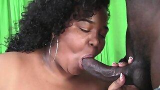 SSBBW Ebony Gets Easily Man Handled By BBC