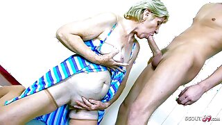 78yr age-old Granny Gabi has Sex with Big Dick Young Boy