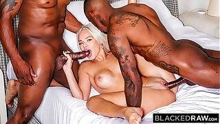 BLACKEDRAW Hoggish Elsa Jean gets spit-roasted by 2 BBCs
